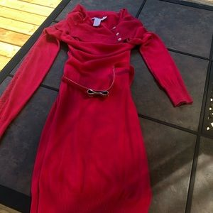Candie's hot pink long sleeve dress
